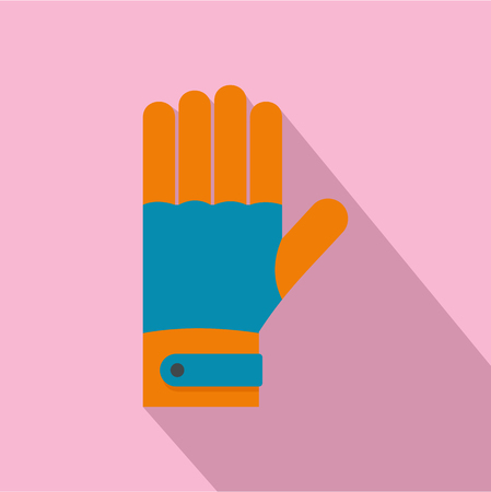 Winter gloves icon. Flat illustration of winter gloves vector icon for web design
