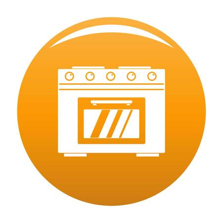 Gas oven icon. Simple illustration of gas oven vector icon for any design orange