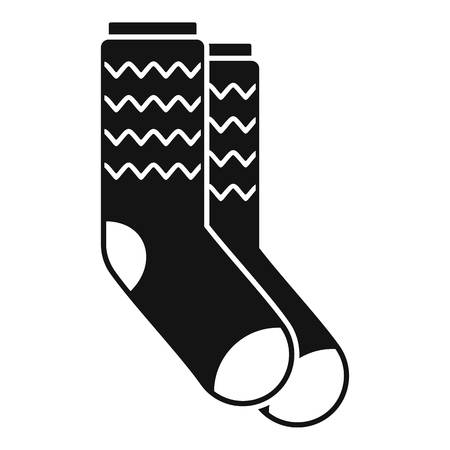 Winter socks icon. Simple illustration of winter socks vector icon for web design isolated on white background