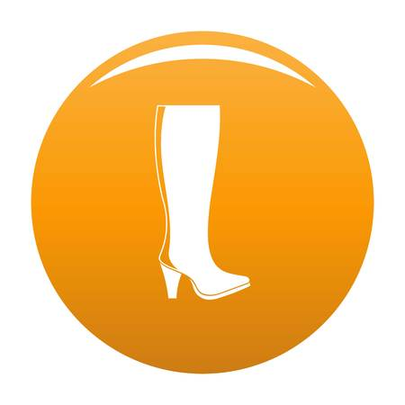 Woman boots icon. Simple illustration of woman boots vector icon for any any design orange