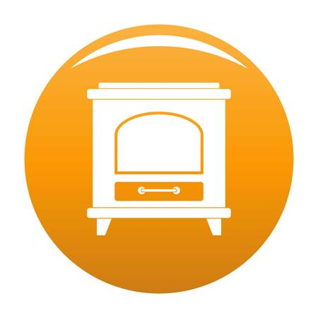 Ancient oven icon. Simple illustration of ancient oven vector icon for any design orange