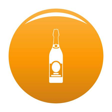 Holiday champagne icon. Simple illustration of holiday champagne vector icon for any design orange Illustration