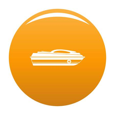 Boat icon. Simple illustration of boat vector icon for any design orange Ilustracja