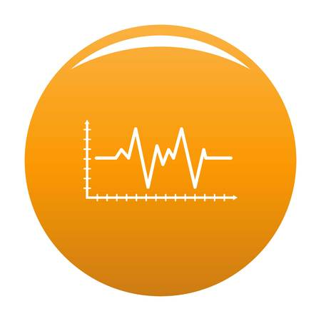 Cardiogram icon. Simple illustration of cardiogram vector icon for any design orange