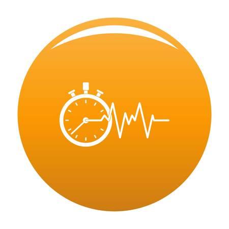 Encephalogram icon. Simple illustration of encephalogram vector icon for any design orange