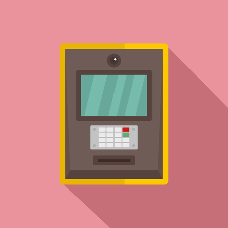 Atm icon. Flat illustration of atm vector icon for web design