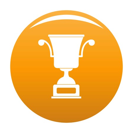 Cup award icon. Simple illustration of cup award vector icon for any any design orange