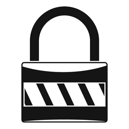 Lock icon. Simple illustration of lock vector icon for web design isolated on white background