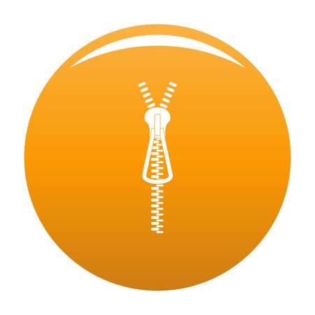 Metal zip icon. Simple illustration of metal zip vector icon for any design orange Illustration