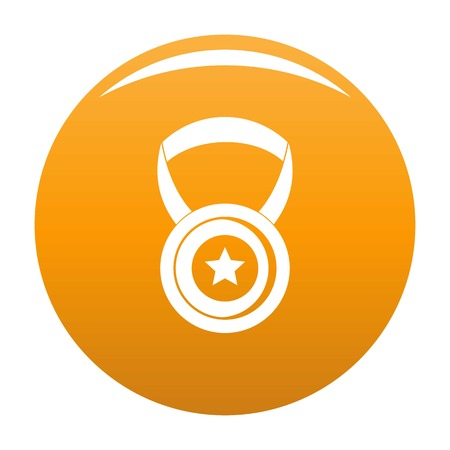 Medal icon. Simple illustration of medal vector icon for any any design orange Illustration