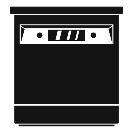 Closed dishwasher icon. Simple illustration of closed dishwasher vector icon for web design isolated on white background Illustration