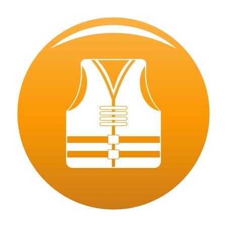 Rescue vest icon. Simple illustration of rescue vest vector icon for any design orange Illustration