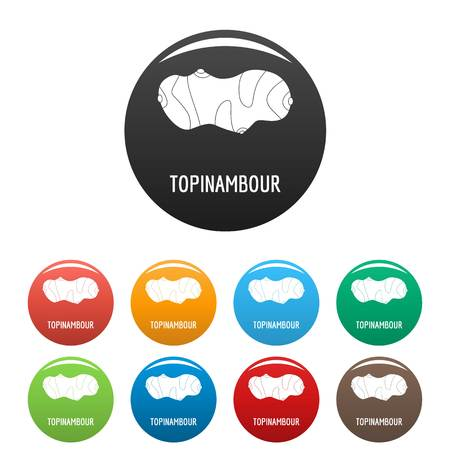Topinambour icon. Simple illustration of topinambour vector icons set color isolated on white