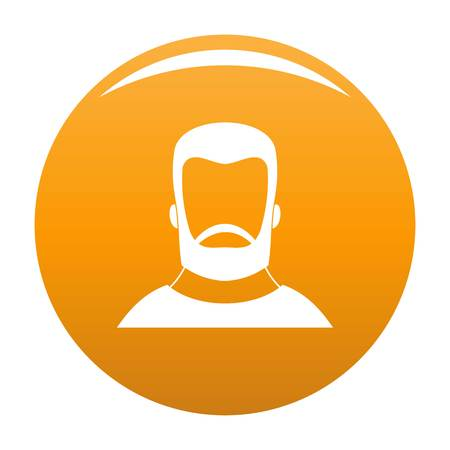 Hipster icon. Simple illustration of hipster vector icon for any design orange 일러스트