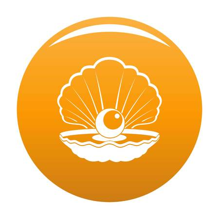 Opened shell icon. Simple illustration of opened shell vector icon for any design orange Illustration