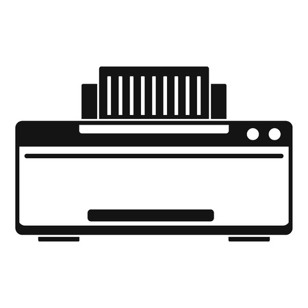 Great printer icon. Simple illustration of great printer vector icon for web design isolated on white background