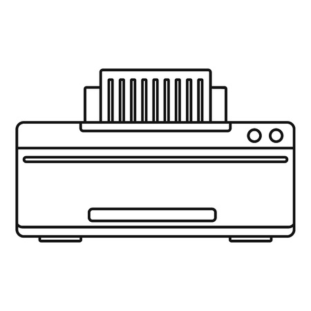Great printer icon. Outline illustration of great printer vector icon for web design isolated on white background