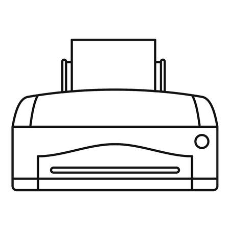 Color home printer icon. Outline illustration of color home printer vector icon for web design isolated on white background Illustration