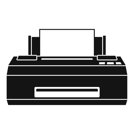 Old printer icon. Simple illustration of old printer vector icon for web design isolated on white background