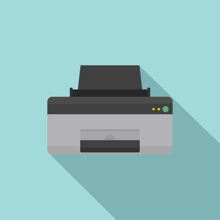 Home printer icon. Flat illustration of home printer vector icon for web design