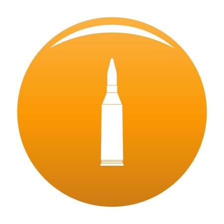 Thin cartridge icon. Simple illustration of thin cartridge vector icon for any design orange