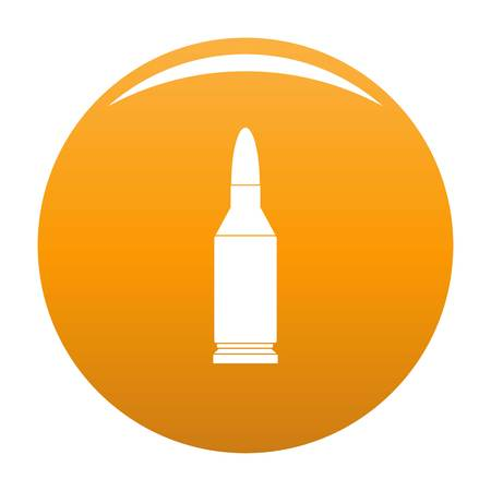 Bullet icon. Simple illustration of bullet vector icon for any design orange Illustration