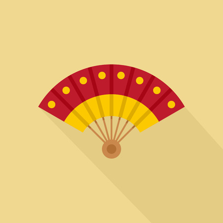 Hand fan icon. Flat illustration of hand fan vector icon for web design