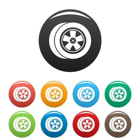Transport icon. Simple illustration of transport vector icons set color isolated on white
