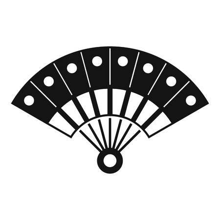 Hand fan icon. Simple illustration of hand fan vector icon for web design isolated on white background Illusztráció