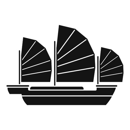 China ship icon. Simple illustration of china ship vector icon for web design isolated on white background