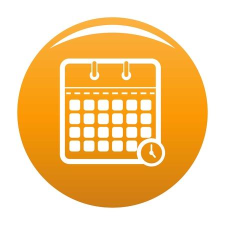 Calendar time icon. Simple illustration of calendar time vector icon for any design orange Illustration