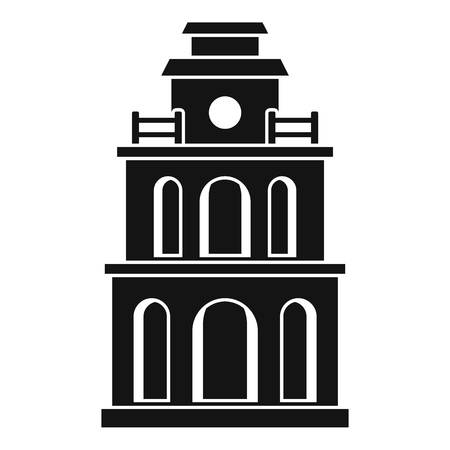 Taiwan clock building icon. Simple illustration of taiwan clock building vector icon for web design isolated on white background