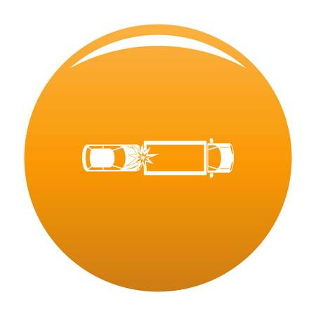 Car injury icon. Simple illustration of car injury vector icon for any design orange