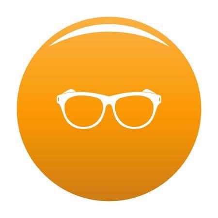 Vintage eyeglasses icon. Simple illustration of vintage eyeglasses vector icon for any design orange