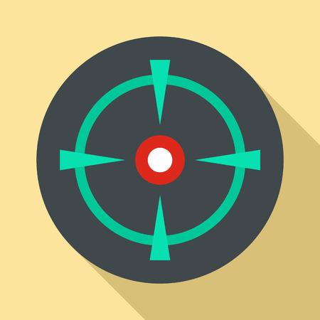 Old gun aim icon. Flat illustration of old gun aim vector icon for web design