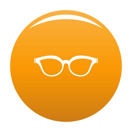 Myopic spectacles icon. Simple illustration of myopic spectacles vector icon for any design orange Illustration