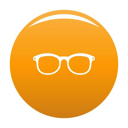 Glasses for myopic icon. Simple illustration of glasses for myopic vector icon for any design orange