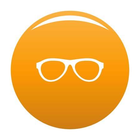 Myopic glasses icon. Simple illustration of myopic glasses vector icon for any design orange Illustration