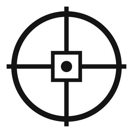 Point gun aim icon. Simple illustration of point gun aim vector icon for web design isolated on white background