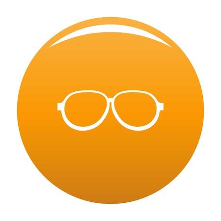 Photochromic eyeglasses icon. Simple illustration of photochromic eyeglasses vector icon for any design orange  イラスト・ベクター素材