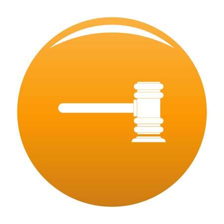 Legislation icon. Simple illustration of legislation vector icon for any design orange
