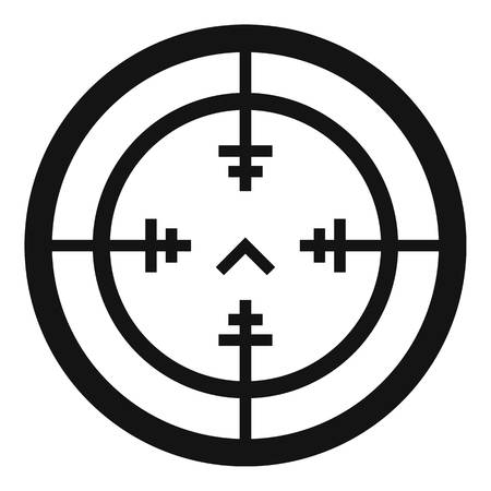 Sniper gun aim icon. Simple illustration of sniper gun aim vector icon for web design isolated on white background