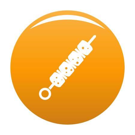 Shish kebab icon. Simple illustration of shish kebab vector icon for any design orange