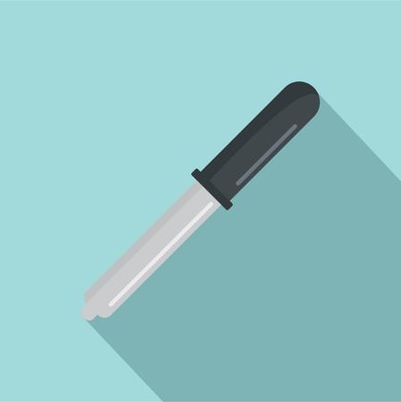 Medicine pipette icon. Flat illustration of medicine pipette vector icon for web design