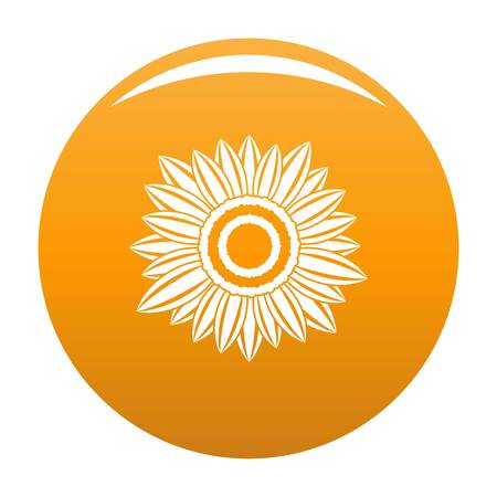 Sunny plant icon. Simple illustration of sunny plant vector icon for any design orange