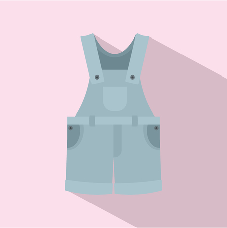 Worker clothes icon. Flat illustration of worker clothes vector icon for web design