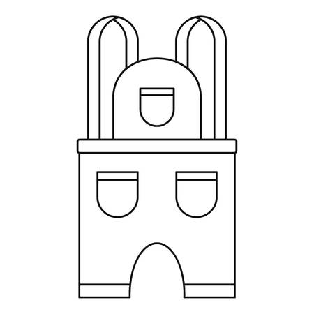 Work clothes icon. Outline illustration of work clothes vector icon for web design isolated on white background Illustration
