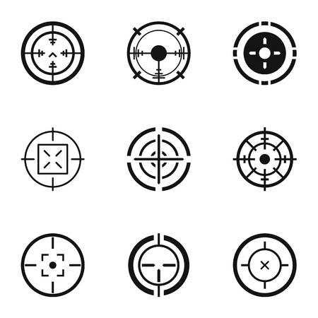 Jeu d'icônes de bout à bout. Ensemble simple de 9 icônes vectorielles bout à bout pour le web isolé sur fond blanc Vecteurs
