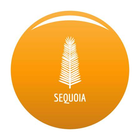 Sequoia leaf icon. Simple illustration of sequoia leaf vector icon for any design orange