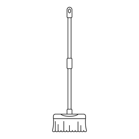 Brush mop icon. Outline illustration of brush mop vector icon for web design isolated on white background Illusztráció